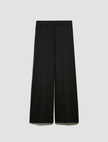 Technical jersey wide-leg trousers