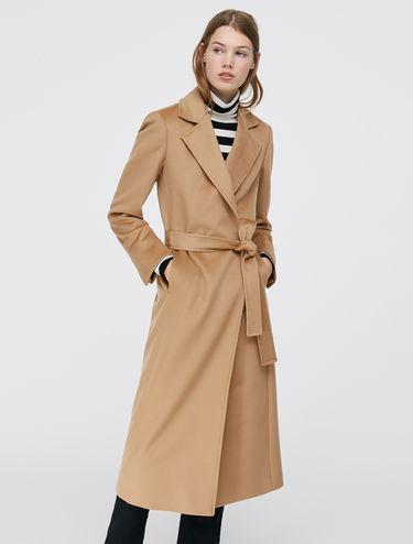 Mid-length wrap coat Long Run