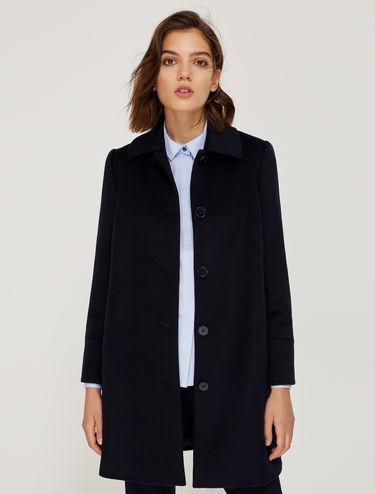 Manteau droit en pure laine