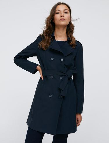 Trench-coat en coton technique