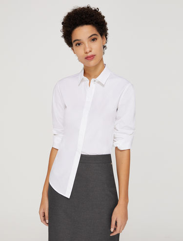 Slim poplin shirt