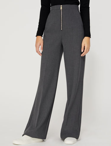 Wide double-stretch trousers