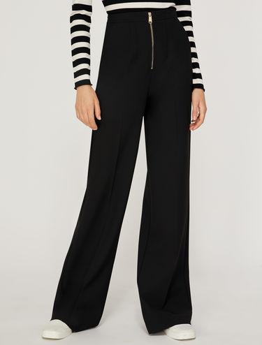 Pantaloni ampi double stretch