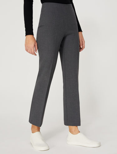 Kick flare double-stretch trousers