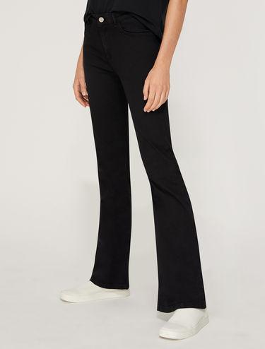 Super-stretch boot-cut jeans