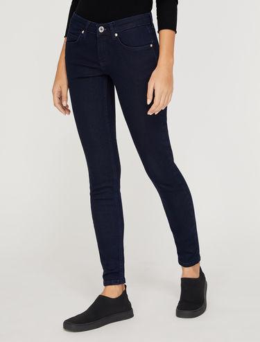Blue skinny-fit jeans