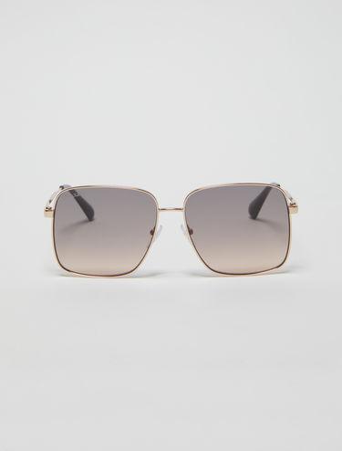 Square metallic sunglasses