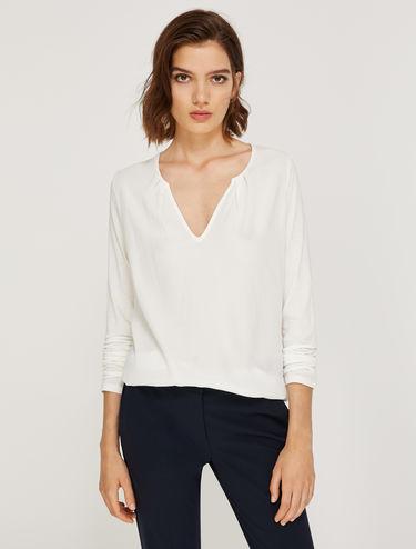 T-shirt en jersey et tissu sablé
