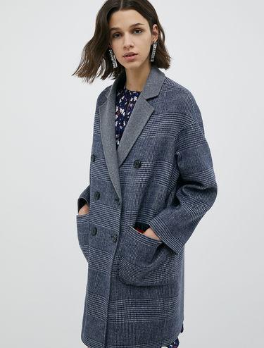 Manteau en laine double face