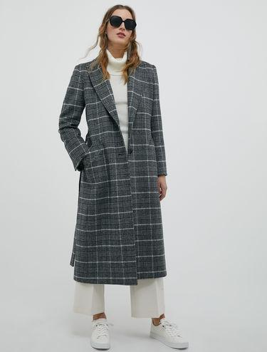 Manteau mi-long en drap de laine