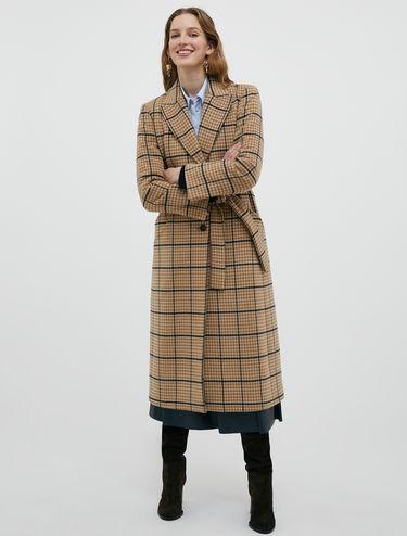 Midi coat in pure wool drap