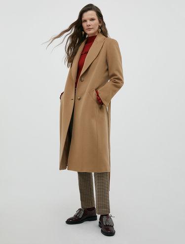 Manteau en drap de pure laine