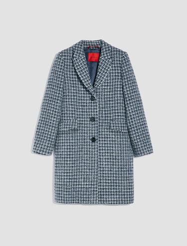 Checked bouclé coat