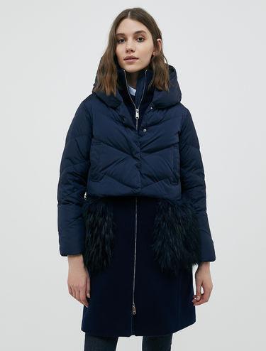 Morph coat in cloth and nylon