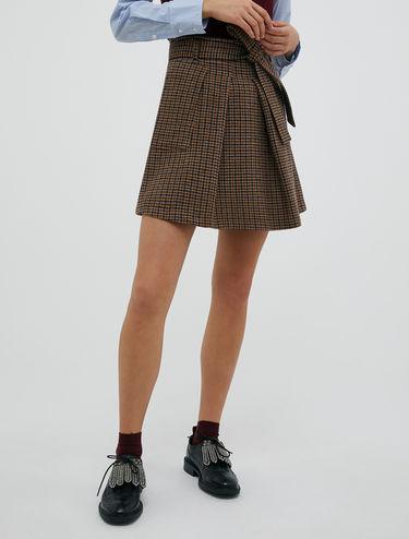Flannel mini skirt