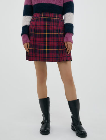 Mini kilt in lamé tartan
