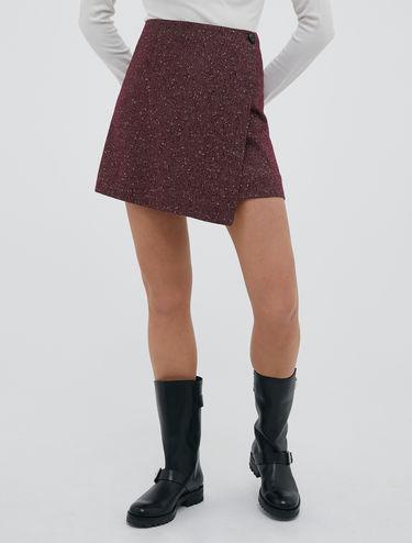 A-line tweed mini skirt