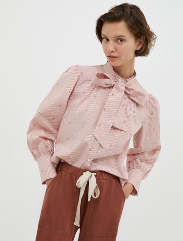 Fil coupé shirt with bow
