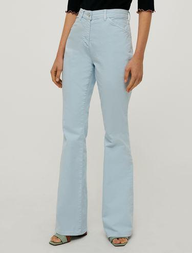 Boot-cut drill trousers