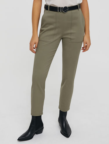 Slim-Fit-Hose aus Baumwollstretch-Twill