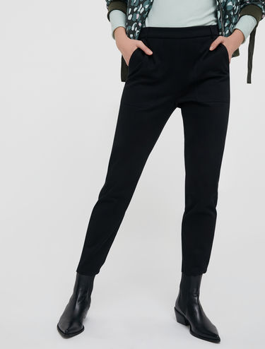 Slim trousers in cotton twill