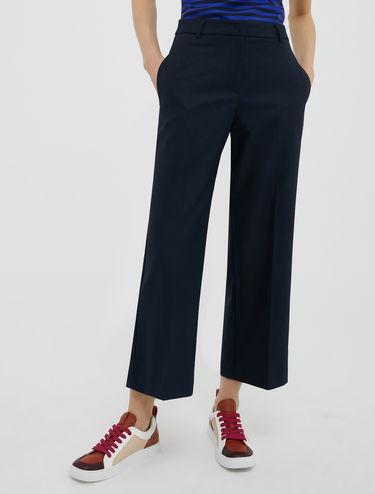 Pantalon large en flanelle stretch