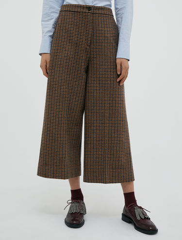 Jupe-culotte en flanelle