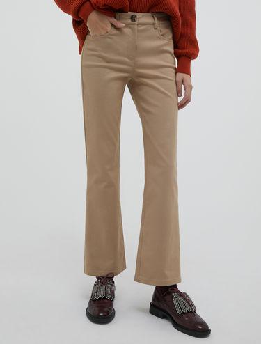 Pantalon bootcut en gabardine