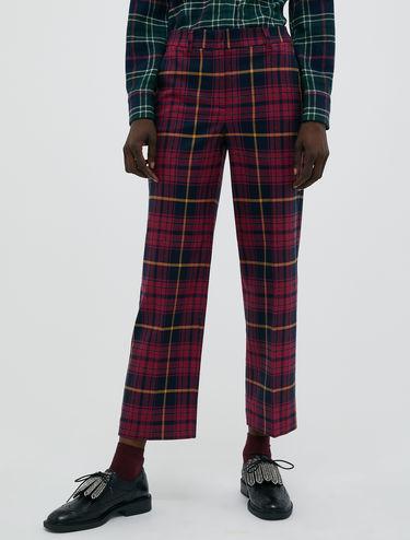 Pantalon en tartan lamé