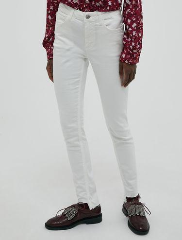 Pantalon skinny en sergé de coton