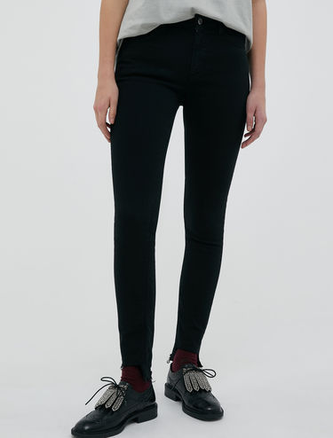 Skinny-fit jersey trousers