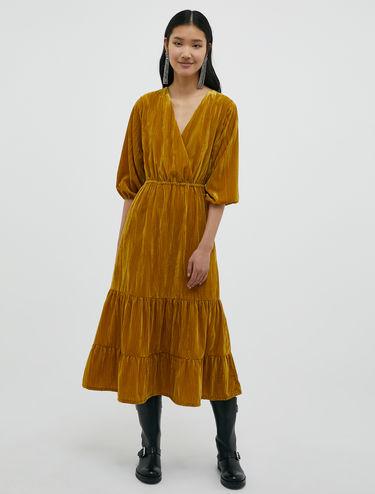 Midi dress di velluto 3D