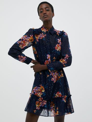 Fil coupé chiffon dress