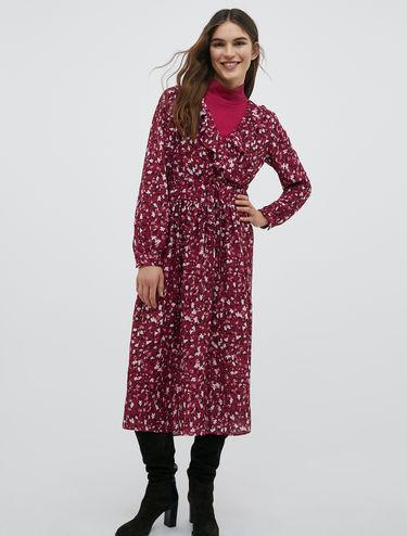Georgette crossover midi dress