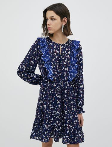 Georgette ruffle dress