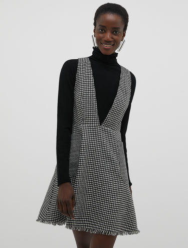 Flannel pinafore dress