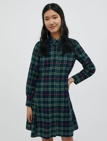 Tartan dress with studs