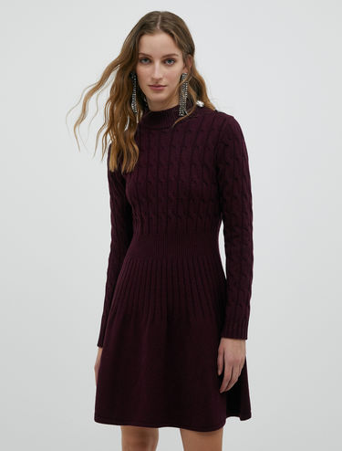 Knit dress with jewelled buttons