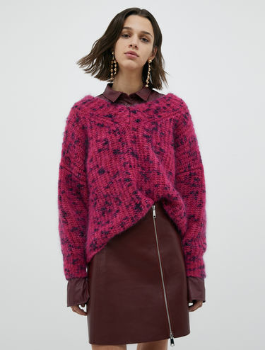 Patterned mohair sweater