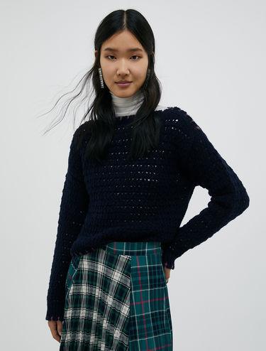 Open-knit sweater in a wool blend