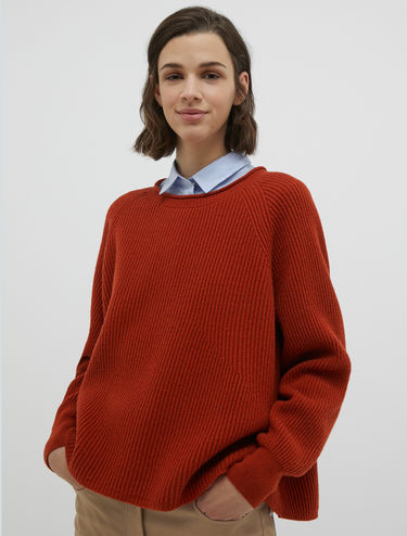 A-line ribbed sweater