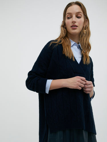 Pull di lana cotta fluffy