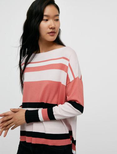 Suéter de algodón y seda