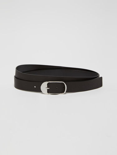 Double strand leather belt