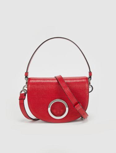 Crescent leather bag