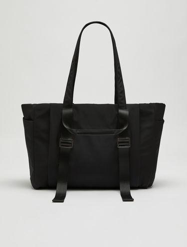 Oversized nylon shopper bag