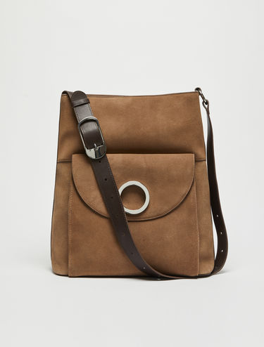 929 suede and leather organiser bag