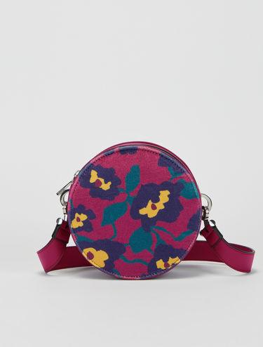 Floral velvet Dot mini-bag
