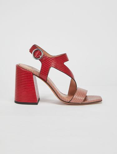Sandales blocs de couleur