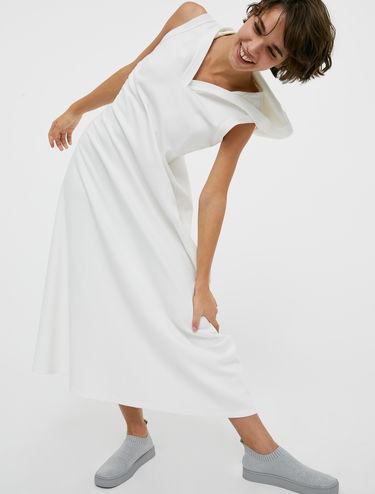 Hooded jersey dress